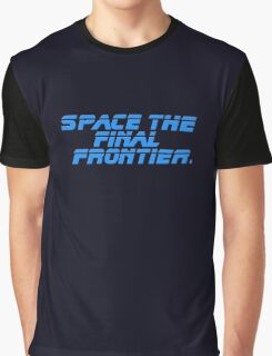 Space The Final Frontier - Star Trek Quote - T-Shirt Graphic T-Shirt