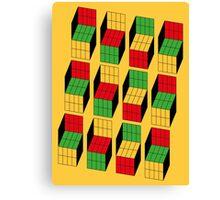 Sheldon Cooper - Rubik's Cube optical illusion   Ilusión óptica del cubo de Rubik Canvas Print