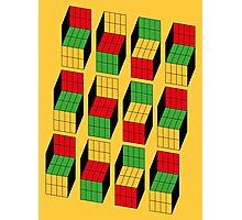 Sheldon Cooper - Rubik's Cube optical illusion | Ilusión óptica del cubo de Rubik Photographic Print