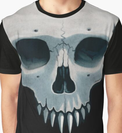 Vampire Skull, Ace of Spades Graphic T-Shirt