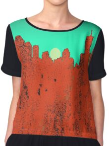 Brisbane, Queensland Skyline - RED Chiffon Top
