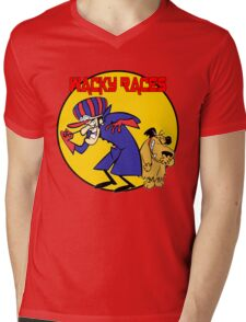 Wacky Races Cartoon Mens V-Neck T-Shirt