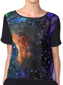Watercolor space Chiffon Top