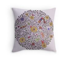 Storytime in the Forest Throw Pillow