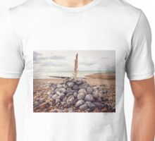 Still Life with Pebbles and a Feather Unisex T-Shirt