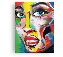 Woman Face Canvas Print