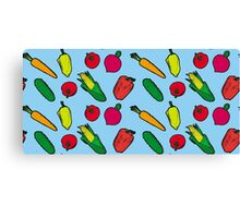 Vegetables Pattern Canvas Print