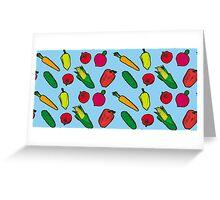 Vegetables Pattern Greeting Card