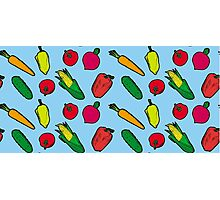 Vegetables Pattern Photographic Print