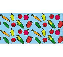 Vegetables Pattern Photographic Print