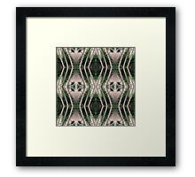 Pine forest zigzags Framed Print