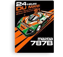 DU MANS : MAZDA 787B Canvas Print
