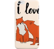 Foxes in Love iPhone Case/Skin