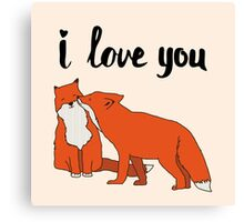 Foxes in Love Canvas Print