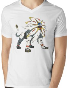 POKEMON SUN AND MOON - SOLGALEO Mens V-Neck T-Shirt