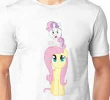 Fluttershy and Sweetie Belle Unisex T-Shirt