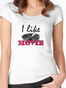 I like movie Women's Fitted Scoop T-Shirt