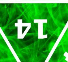 D20 Green Fire Sticker