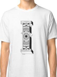I - Mandala N°1 inside Alphabet N°1 Classic T-Shirt