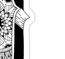 I - Mandala N°1 inside Alphabet N°1 Sticker