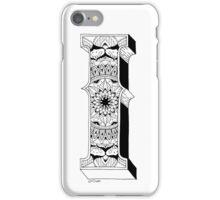 I - Mandala N°1 inside Alphabet N°1 iPhone Case/Skin