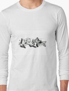 Black and White Graffiti Characters  Long Sleeve T-Shirt