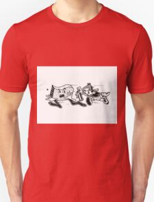 Black and White Graffiti Characters  Unisex T-Shirt