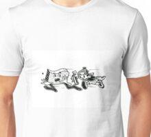 Black and White Graffiti Characters  Unisex T-Shirt