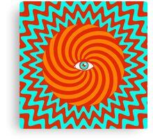 Hypnotic poster Canvas Print