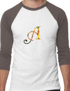 Floral A Men's Baseball ¾ T-Shirt