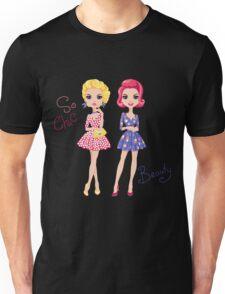 Pop Art cute fashion girls Unisex T-Shirt