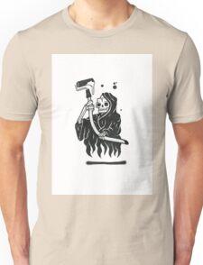 Black and White Graffiti Character Unisex T-Shirt