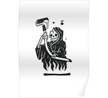 Black and White Graffiti Character Poster