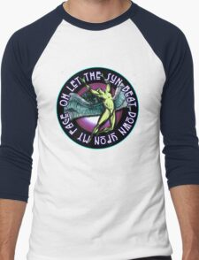 ICARUS THROWS THE HORNS - purple kashmir Men's Baseball ¾ T-Shirt