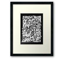Black and White Graffiti Alphabet Framed Print