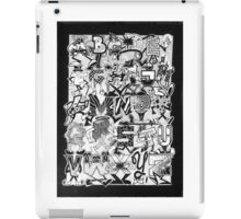 Black and White Graffiti Alphabet iPad Case/Skin