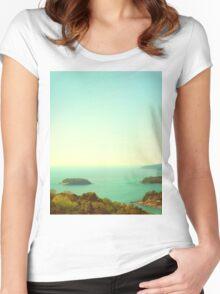 Ocean landscape Women's Fitted Scoop T-Shirt