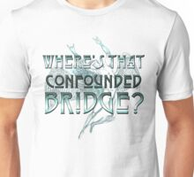 ICARUS THROWS THE HORNS/WHERE'S THAT CONFOUNDED BRIDGE? light blue Unisex T-Shirt