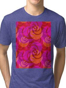 Roses pattern Tri-blend T-Shirt