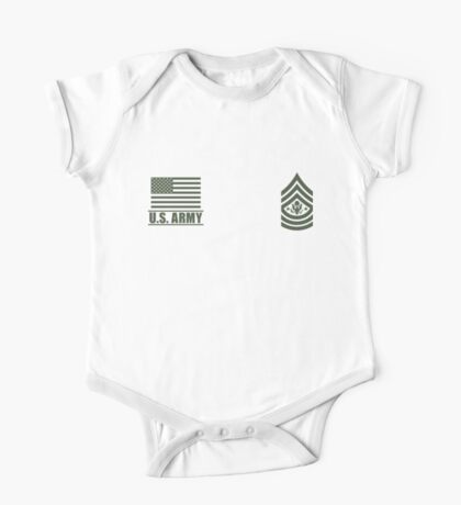 Sergeant Major of the Army Infantry US Army Rank Desert by Mision Militar ™ One Piece - Short Sleeve