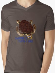 Swimming is Turtle-y Cool! Mens V-Neck T-Shirt