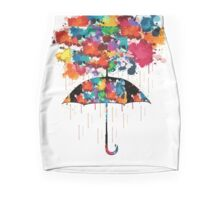 Rainbow rainy day Mini Skirt