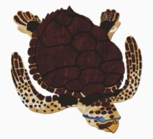 Swimming Turtle Isolated One Piece - Long Sleeve