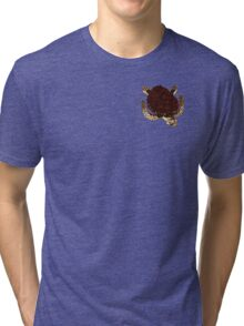 Swimming Turtle Isolated Tri-blend T-Shirt