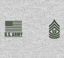 Command Sergeant Major Infantry US Army Rank Desert by Mision Militar ™ One Piece - Long Sleeve
