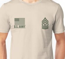 Command Sergeant Major Infantry US Army Rank Desert by Mision Militar ™ Unisex T-Shirt