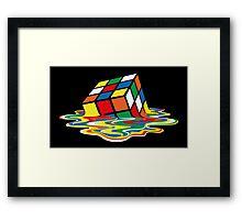 Sheldon Cooper - Melting Rubik's Cube  | Cubo de Rubik derritiéndose Framed Print