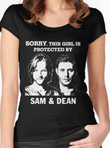 SORRY, THIS GIRL IS PROTECTED BY SAM AND DEAN Women's Fitted Scoop T-Shirt