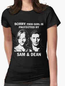 SORRY, THIS GIRL IS PROTECTED BY SAM AND DEAN Womens Fitted T-Shirt