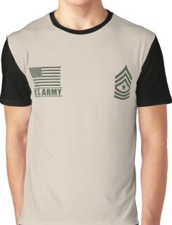 Sergeant Major Infantry US Army Rank Desert by Mision Militar ™ Graphic T-Shirt